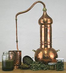 Alambic Destille aus Kupfer